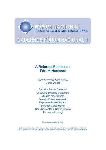 Cadernos Fórum Nacional 1