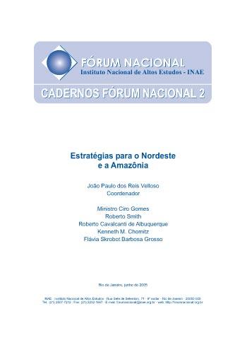 Cadernos Fórum Nacional 2