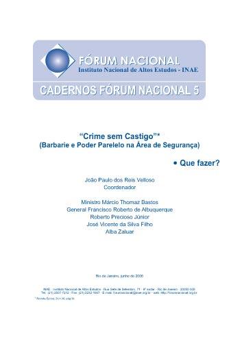 Cadernos Fórum Nacional 5