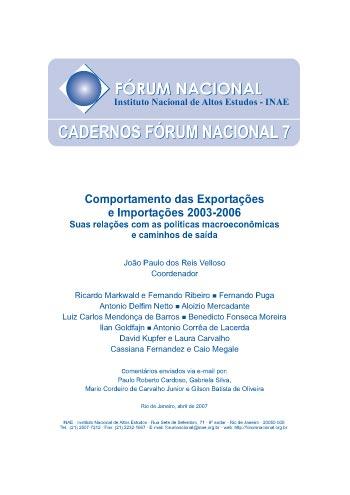 Cadernos Fórum Nacional 7