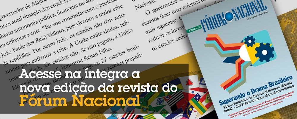 Acesse na íntegra a nova edição da revista do Fórum Nacional