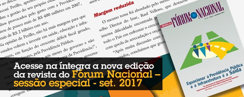 Revista do Fórum Nacional  –  Sessão Especial – setembro 2017