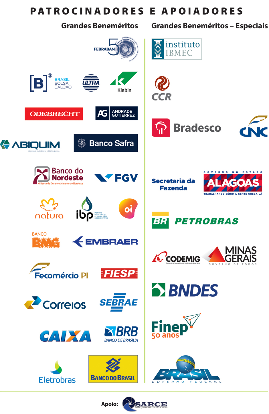 Patrocinadores e Apoiadores