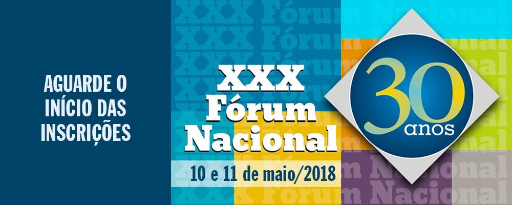 Fórum Nacional – maio 2018