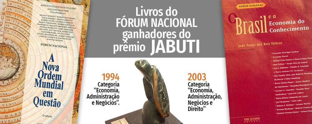 Livros do Fórum Nacional ganhadores do Prêmio Jabuti