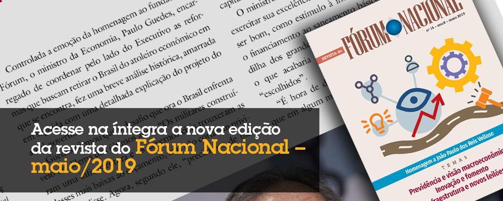 Revista do Fórum Nacional  –  maio 2019